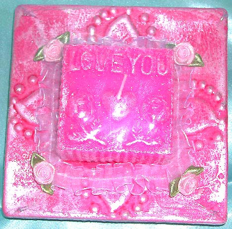 "Rectangular romantic pinky ""I LOVE YOU&quot. Your lover one's birthday unique gift idea!"